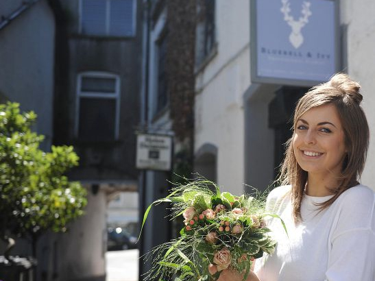 FLORIST --- Lauren Hart who has opened up her own florist in Ulverston, called, Bluebell and Ivy
